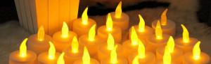 Kaarsen met led-lampjes